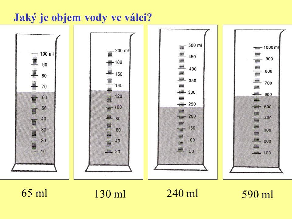 Jaký je objem vody ve válci? 65 ml 130 ml 240 ml 590 ml