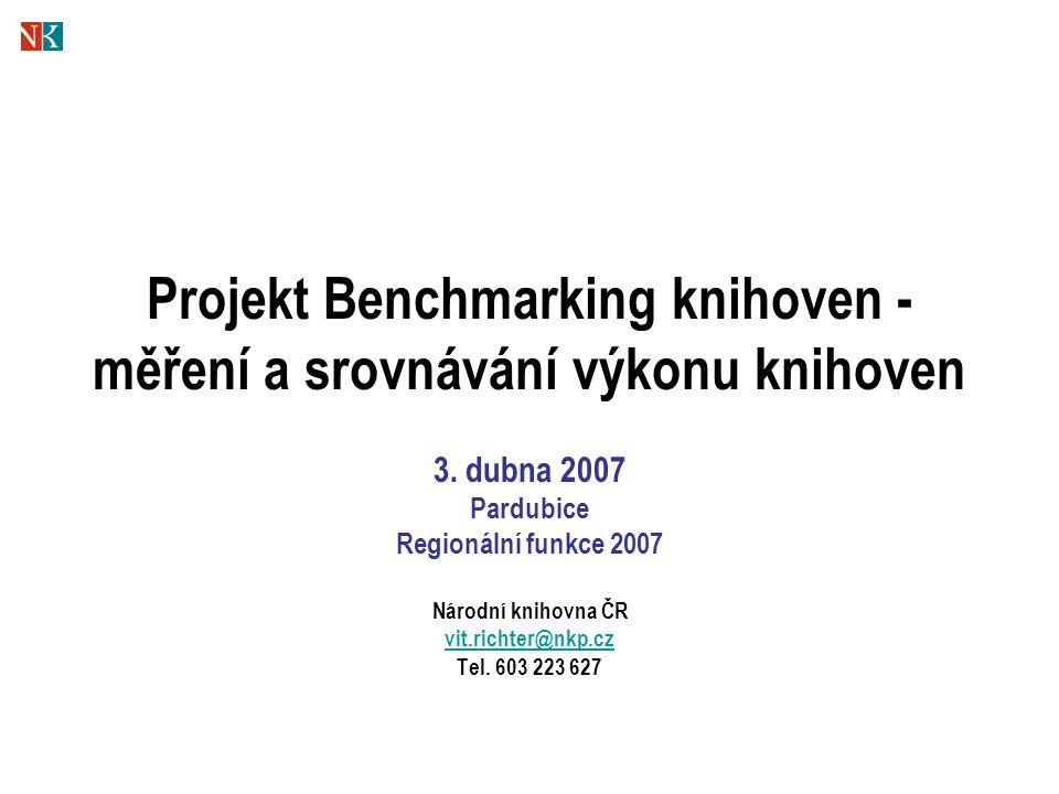 Projekt Benchmarking knihoven - měření a srovnávání výkonu knihoven 3.
