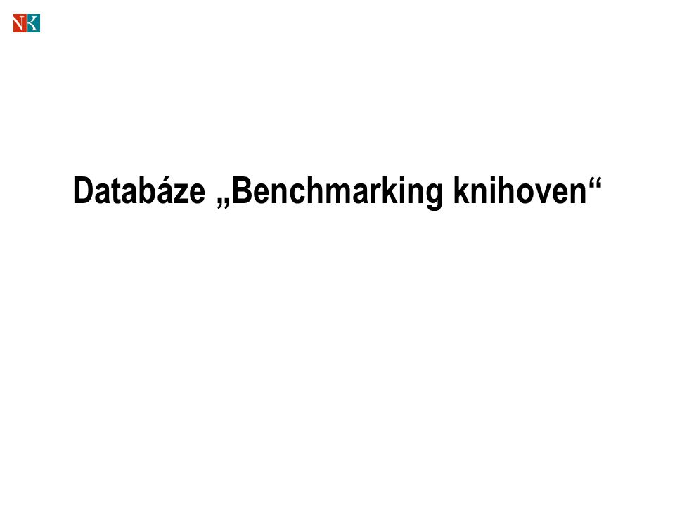 "Databáze ""Benchmarking knihoven"""
