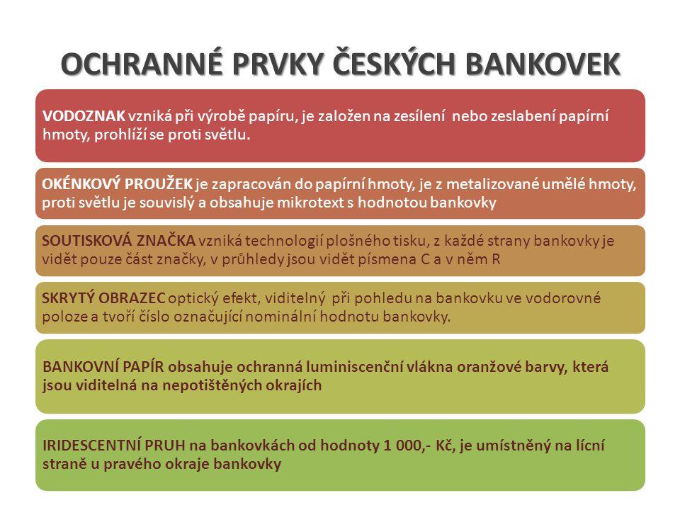 FUNKCE CENTRÁLNÍ BANKY PROVÁDĚNÍ MĚNOVÉ POLITIKY hlavním cílem je cenová stabilita.