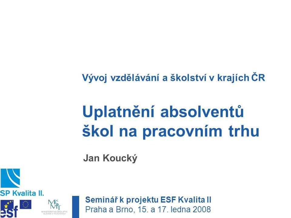 Malátova 17, 150 00 Praha 5 tel.: +420 221 900 513 · e-mail: jan.koucky@pedf.cuni.cz 1.Co je uplatnění absolventů škol .