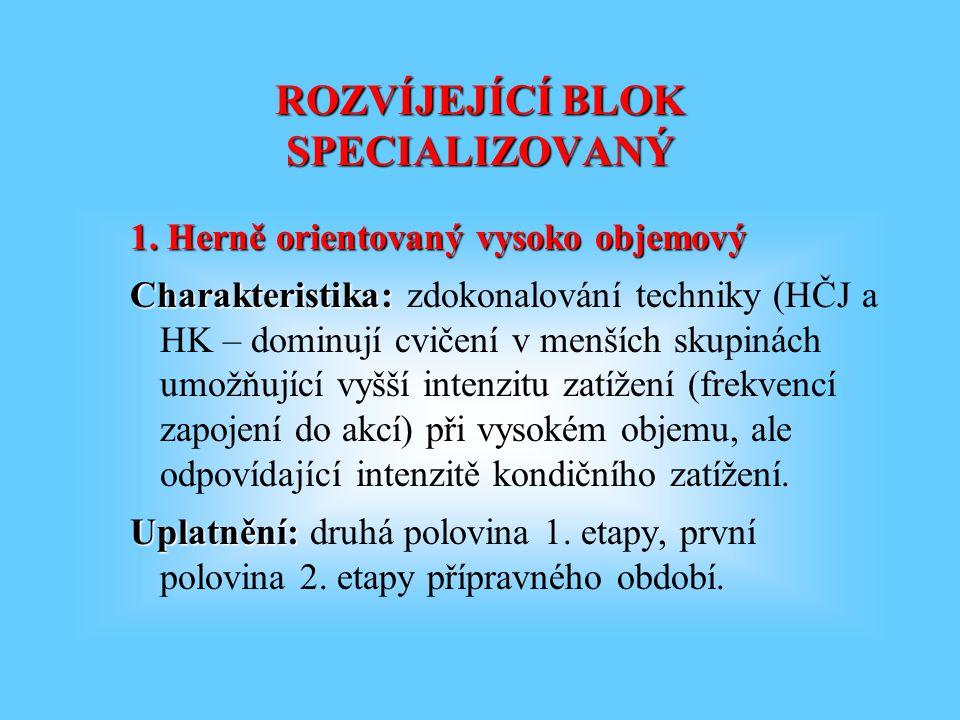 ROZVÍJEJÍCÍ BLOK SPECIALIZOVANÝ 1.