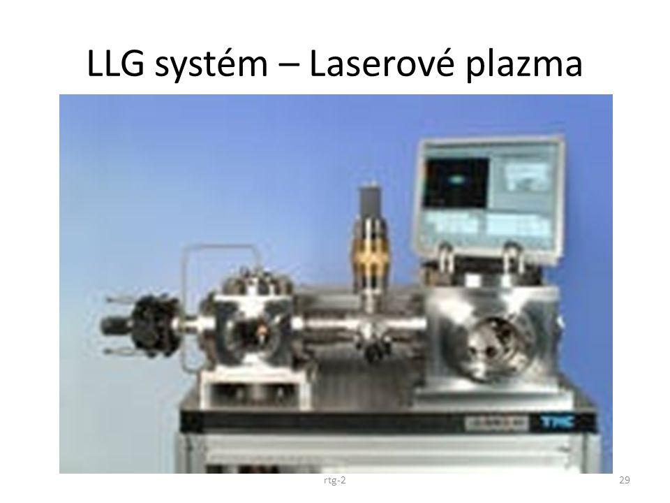 LLG systém – Laserové plazma rtg-229