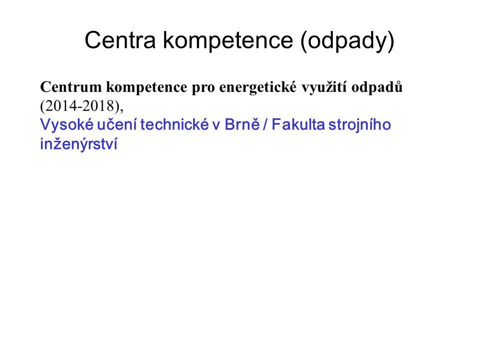 Centra kompetence (odpady) Centrum kompetence pro energetické využití odpadů (2014-2018), Vysoké učení technické v Brně / Fakulta strojního inženýrstv