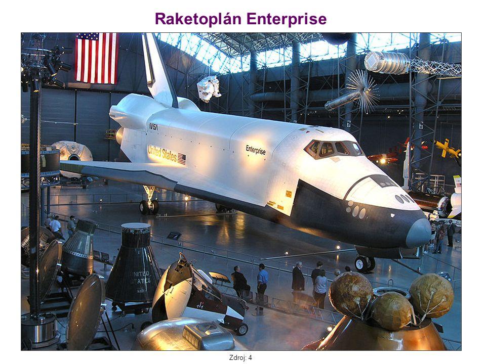 Raketoplán Enterprise Zdroj: 4