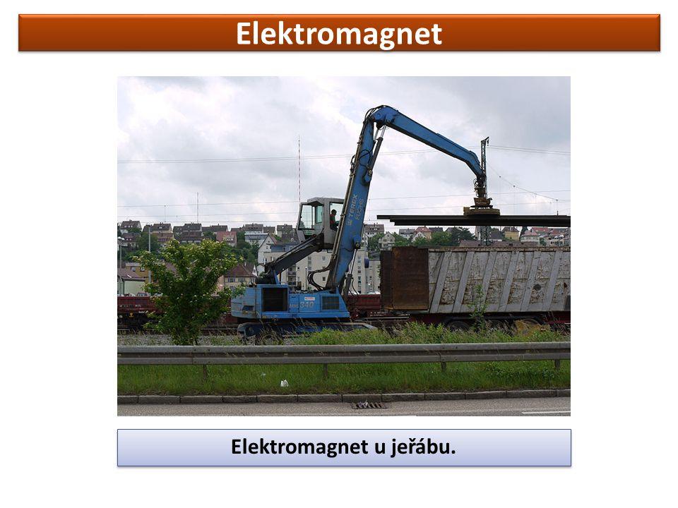 Elektromagnet Elektromagnet u jeřábu.