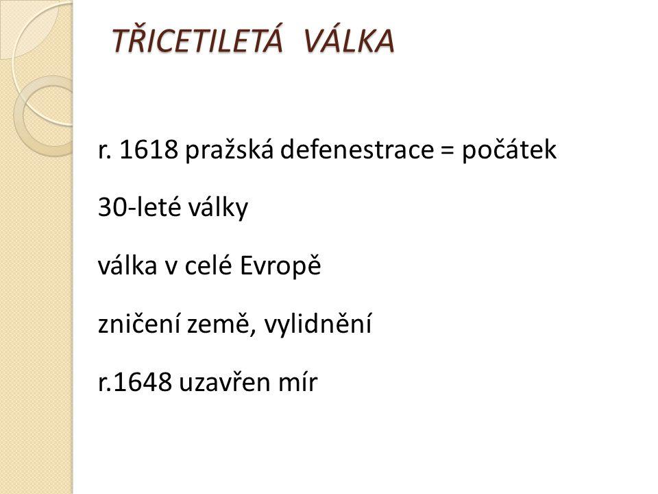 TŘICETILETÁ VÁLKA r.