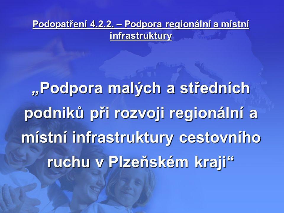 """Podopatření 4.2.2. – Podpora regionální a místní infrastruktury """"Podpora malých a středních podniků při rozvoji regionální a místní infrastruktury ces"""