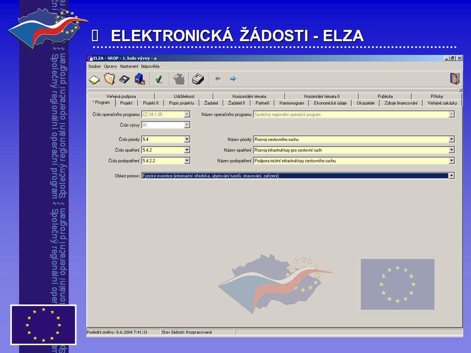  ELEKTRONICKÁ ŽÁDOSTI - ELZA
