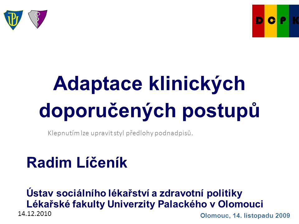 14.12.2010 Co je adaptace KDP.