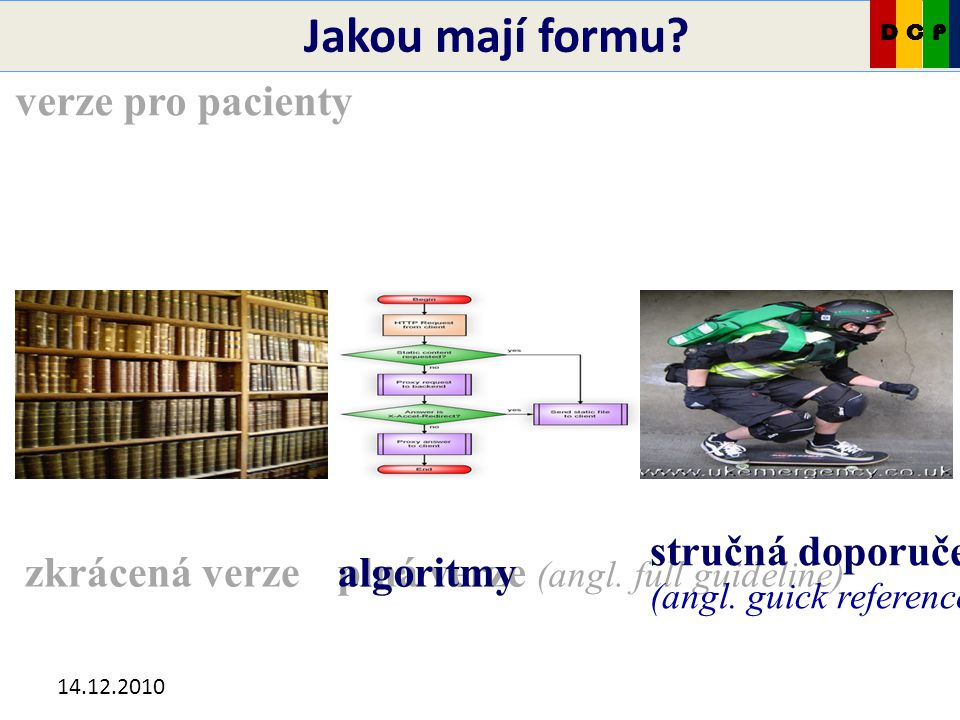 14.12.2010 Jakou mají formu.plná verze (angl. full guideline) stručná doporučení (angl.