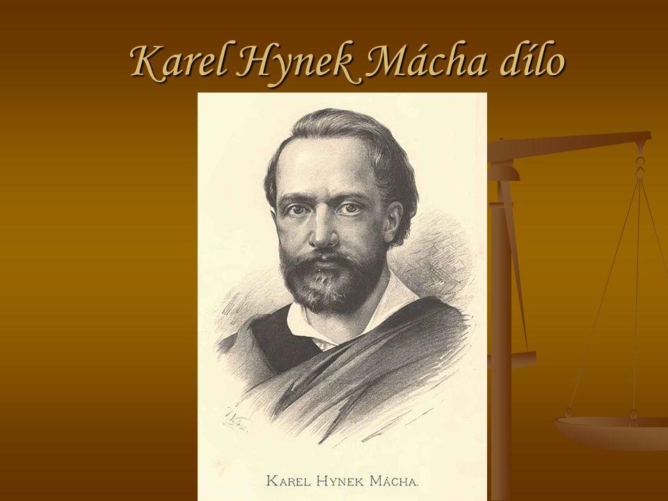 Karel Hynek Mácha dílo