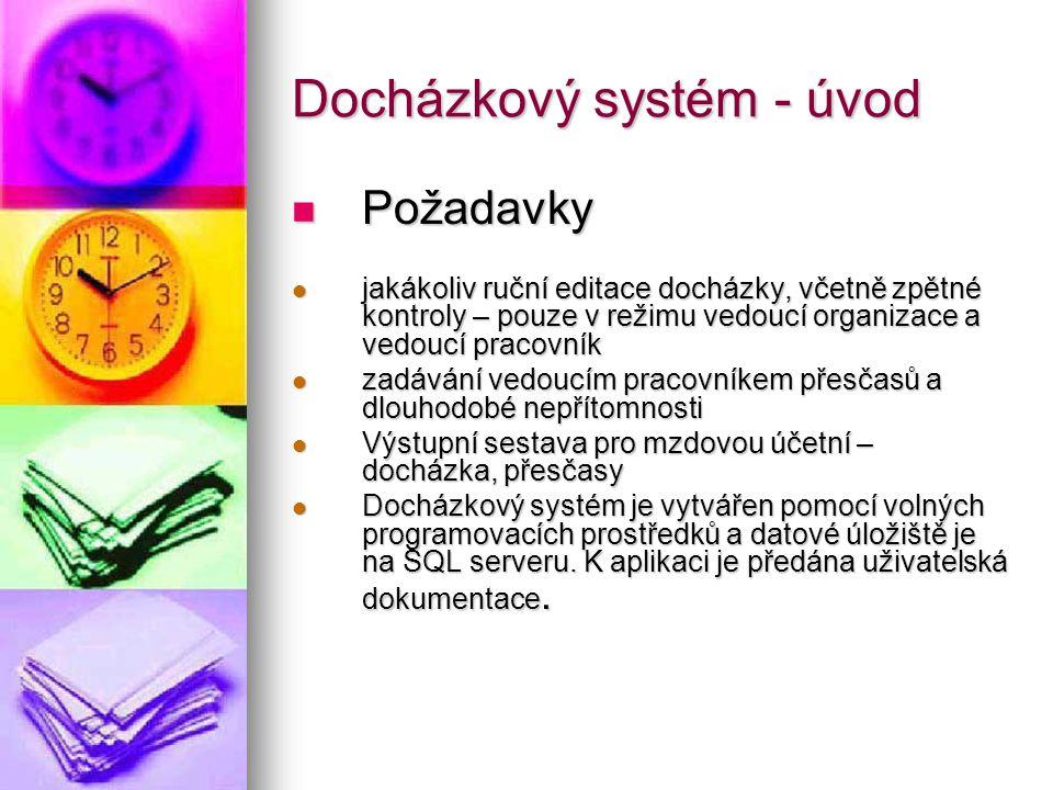Docházkový systém uživatelská příručka Popis kaskádového stylu default.css Popis kaskádového stylu default.css Kaskádové styly se nachází ve složce./styles.