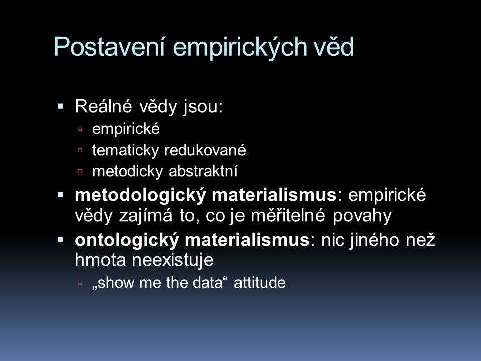 """""""Vědecký realismus a """"vědecký antirealismus  """"vědecký realismus = cílem vědy je podat pravdivý obraz světa  """"vědecký antirealismus = cílem vědy je podat pravdivý obraz pozorovatelné části světa  atomy, elektrony a kvarky nikdy nikdo neviděl…  …je to tedy nedokazatelná hypotéza"""