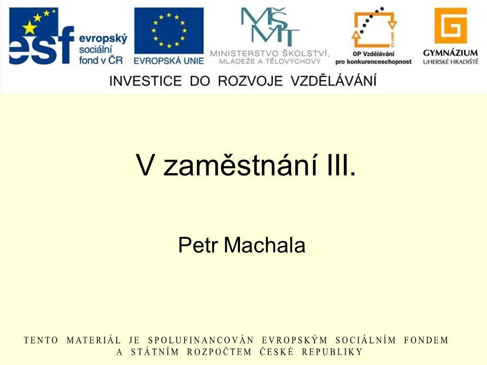 V zaměstnání III. Petr Machala