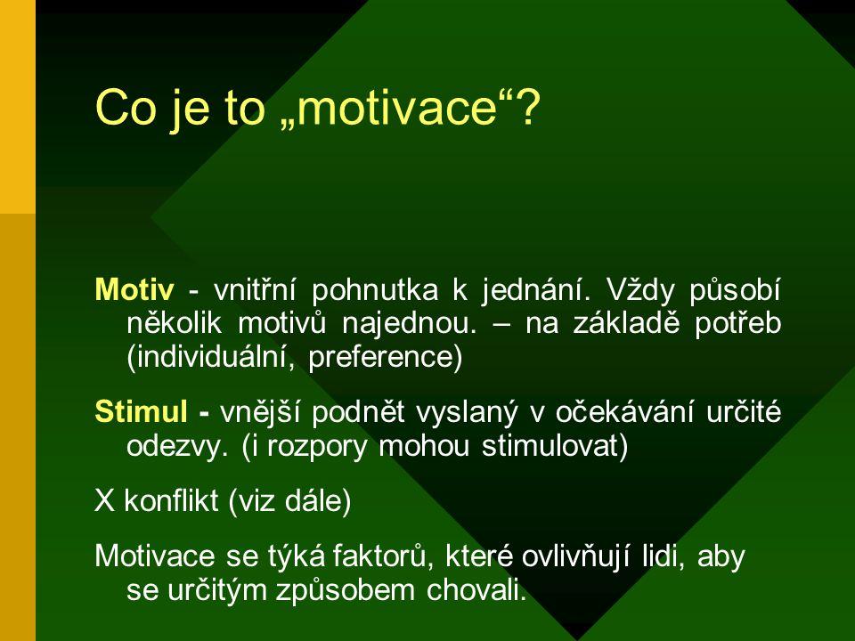 Doplňková literatura Heller, R. Jak motivovat druhé, Slovart, Praha, 2001 Šuleř, O., Zvládáte své manažerské role?, Computer Press, Praha 2002
