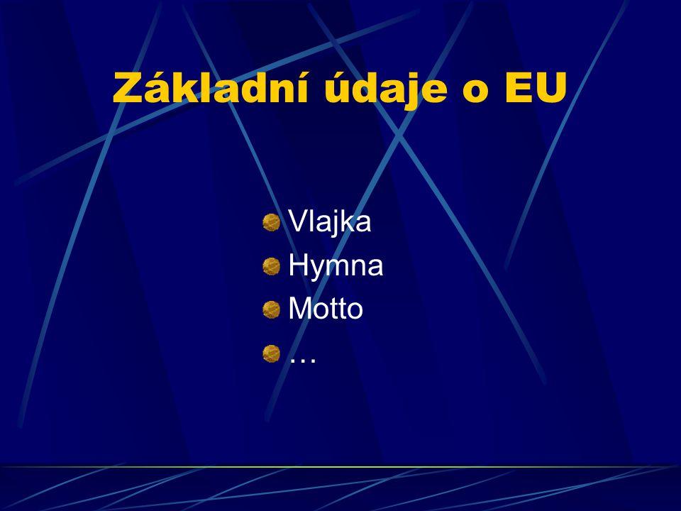 Základní údaje o EU Vlajka Hymna Motto …