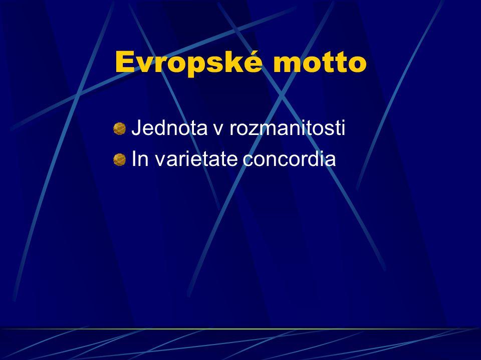 Evropské motto Jednota v rozmanitosti In varietate concordia