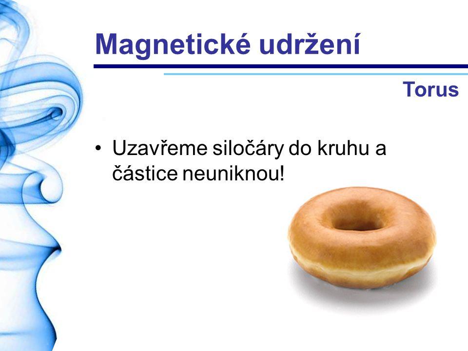 Magnetické udržení Uzavřeme siločáry do kruhu a částice neuniknou! Torus