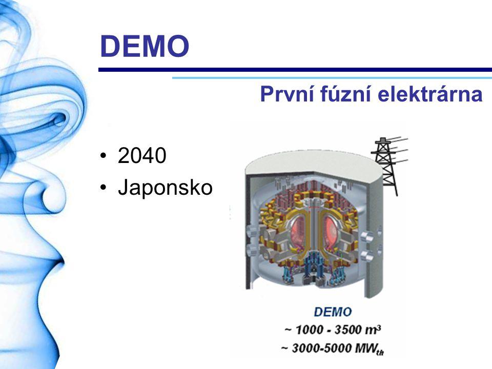DEMO 2040 Japonsko První fúzní elektrárna