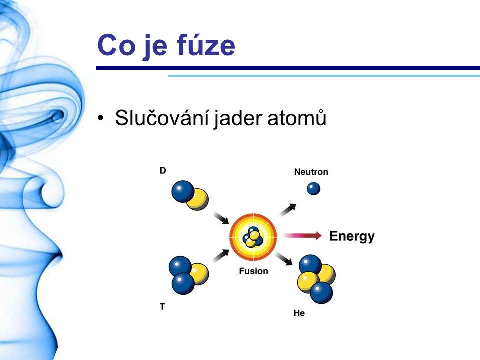 Co je fúze Slučování jader atomů