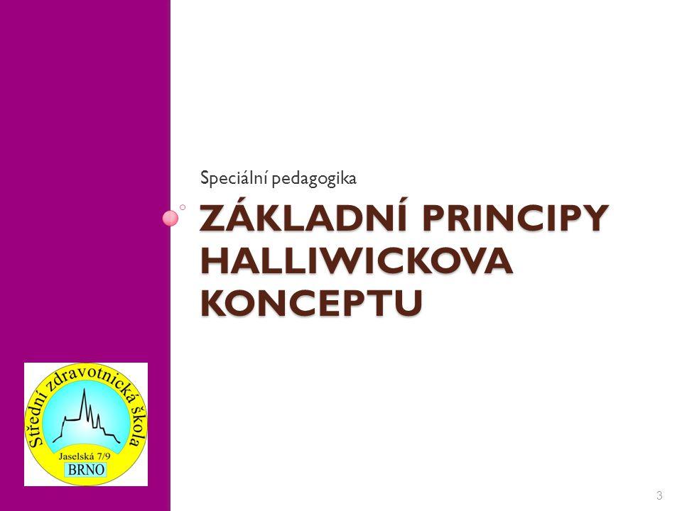 3 Speciální pedagogika ZÁKLADNÍ PRINCIPY HALLIWICKOVA KONCEPTU
