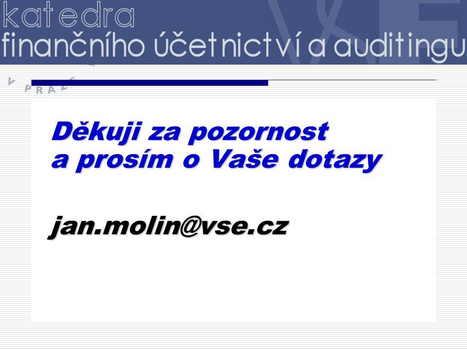 Děkuji za pozornost a prosím o Vaše dotazy jan.molin@vse.cz