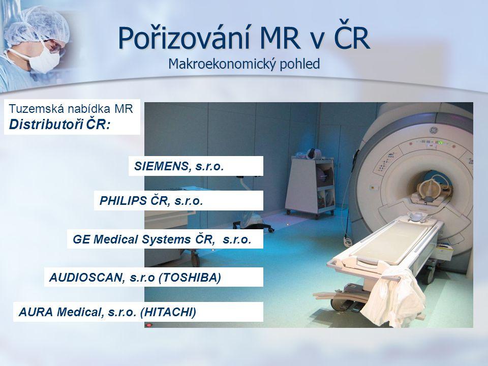 SIEMENS, s.r.o. PHILIPS ČR, s.r.o. GE Medical Systems ČR, s.r.o. AUDIOSCAN, s.r.o (TOSHIBA) AURA Medical, s.r.o. (HITACHI) Tuzemská nabídka MR Distrib