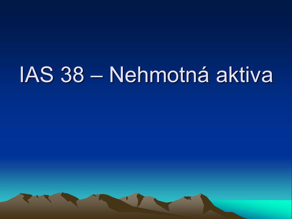 IAS 38 – Nehmotná aktiva