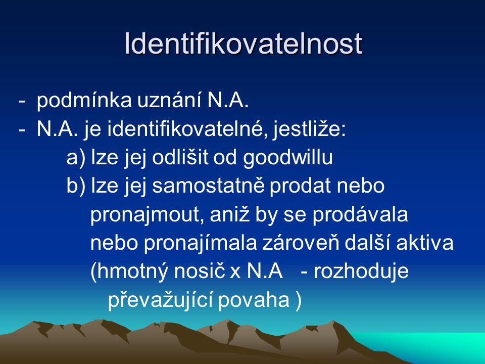 Identifikovatelnost -podmínka uznání N.A.-N.A.