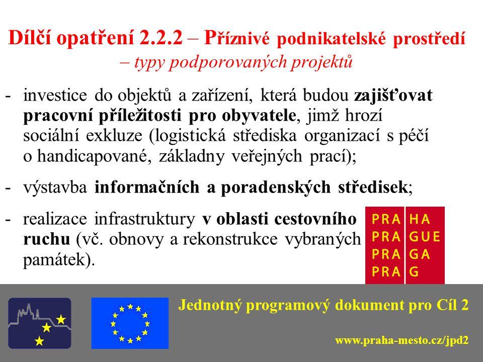Opatření 2.2 – Podpora malého a středního podnikání; příznivé podnikatelské prostředí – struktura opatření Dílčí opatření 2.2.1 Grantová schémata na rozvoj malého a středního podnikání (Bc.
