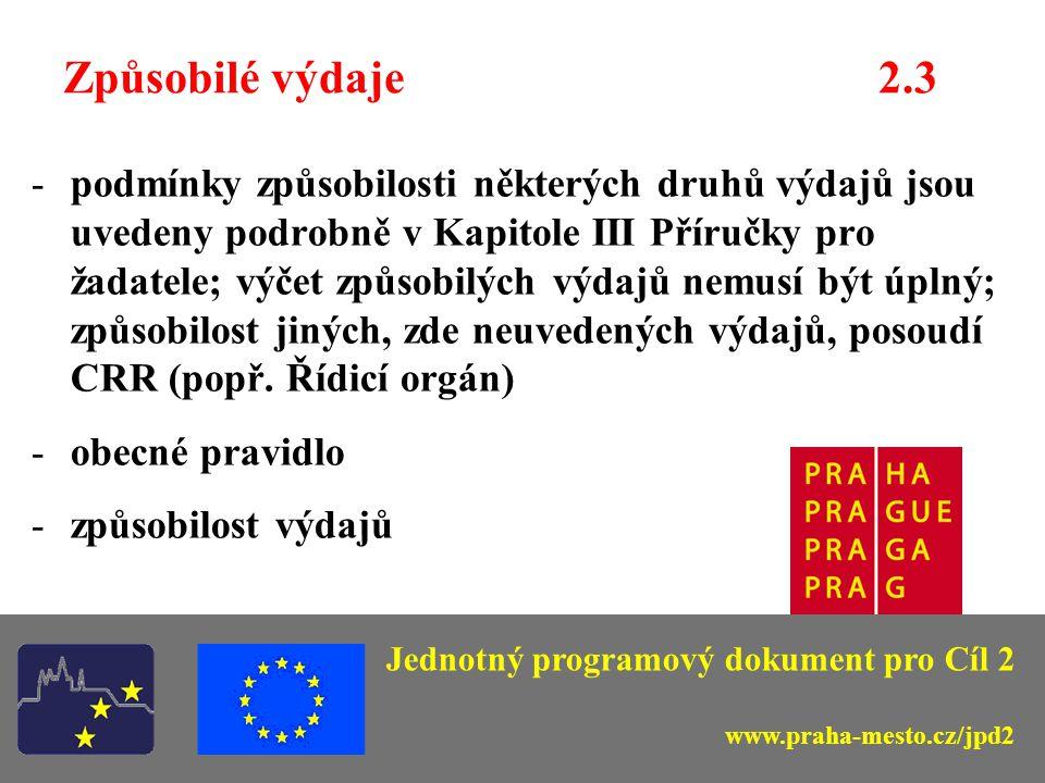 Žadatelé – koneční příjemci 2.3 Hlavní město Praha a vybrané městské části; Organizace zřízené a založené hl.