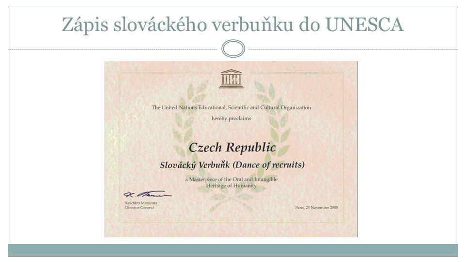Zápis slováckého verbuňku do UNESCA