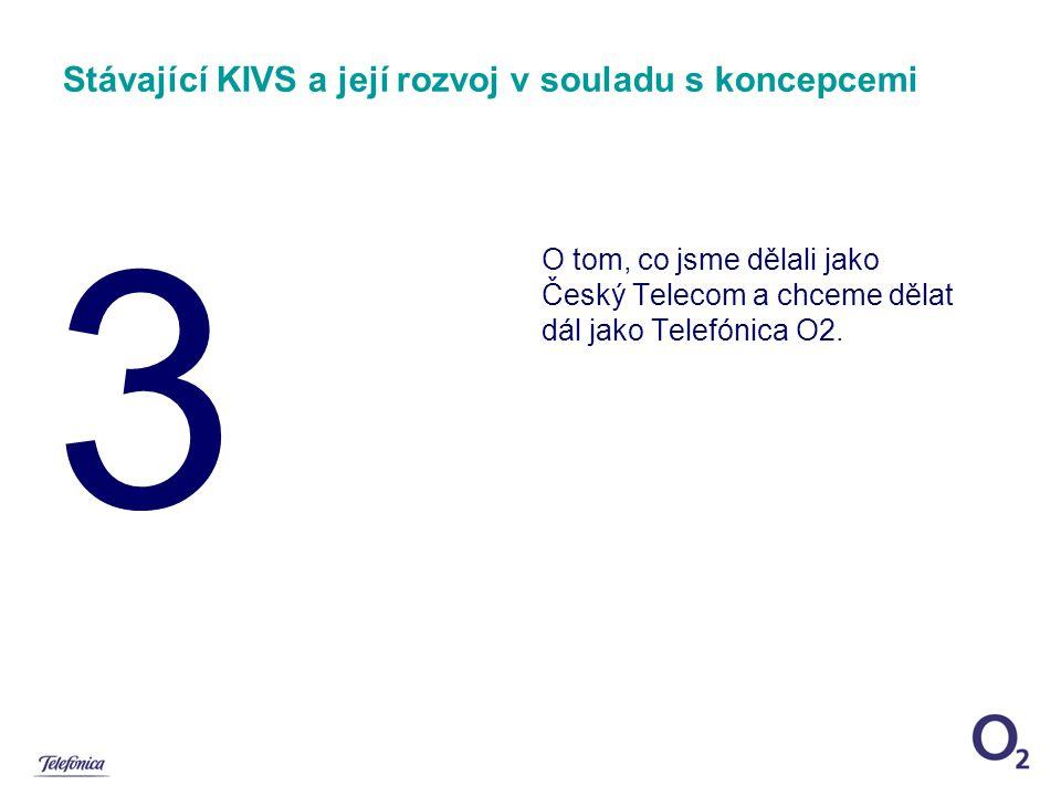 3 Stávající KIVS a její rozvoj v souladu s koncepcemi O tom, co jsme dělali jako Český Telecom a chceme dělat dál jako Telefónica O2.