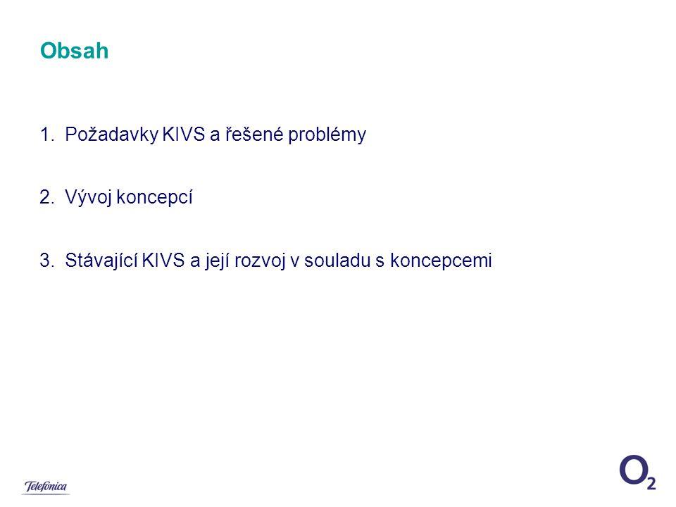 Obsah 1.Požadavky KIVS a řešené problémy 2.Vývoj koncepcí 3.Stávající KIVS a její rozvoj v souladu s koncepcemi