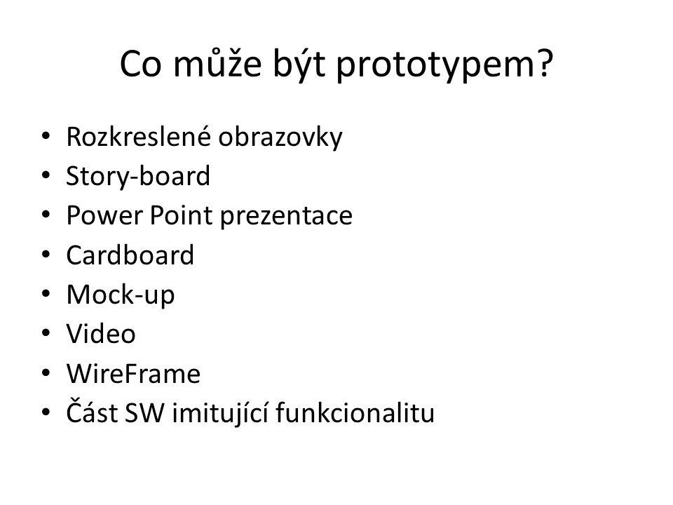 Co může být prototypem.