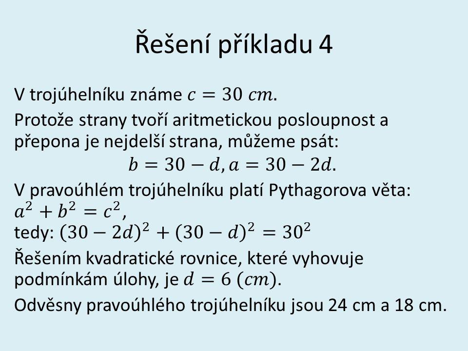 Řešení příkladu 4
