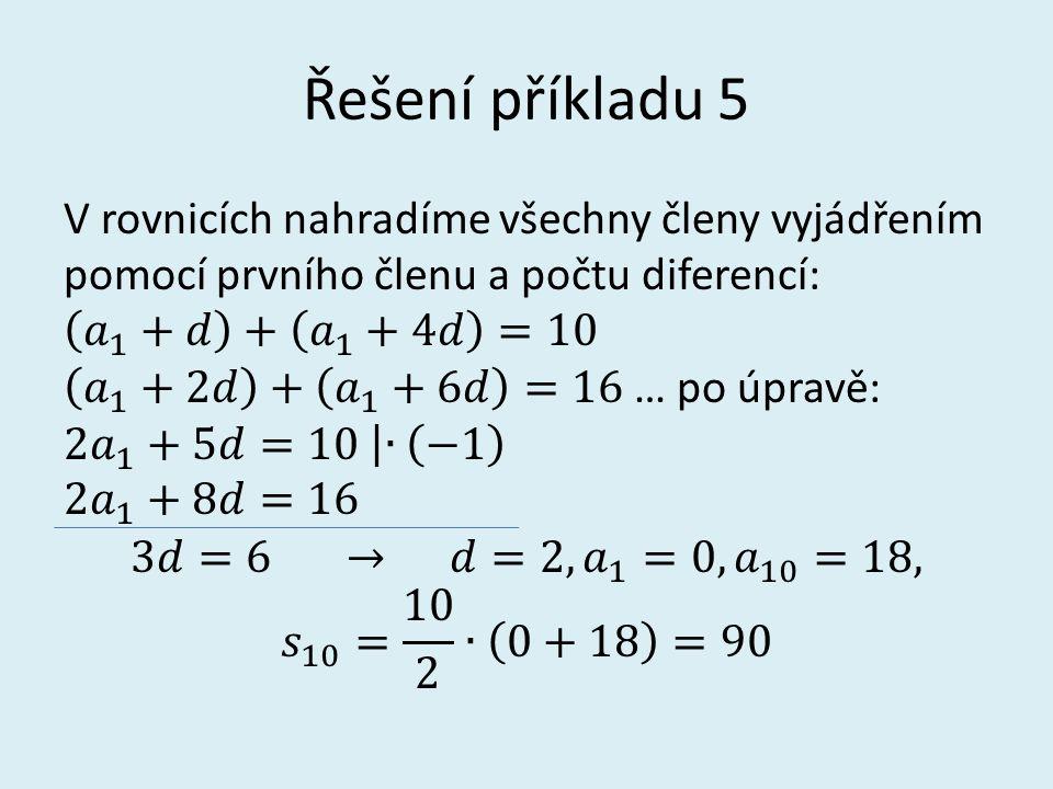 Řešení příkladu 5