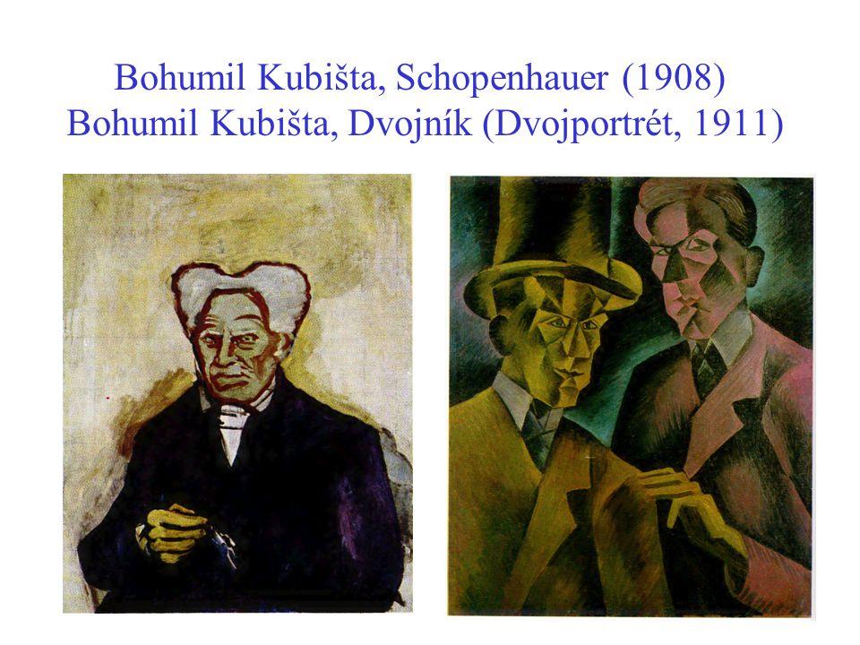 Bohumil Kubišta, Schopenhauer (1908) Bohumil Kubišta, Dvojník (Dvojportrét, 1911)