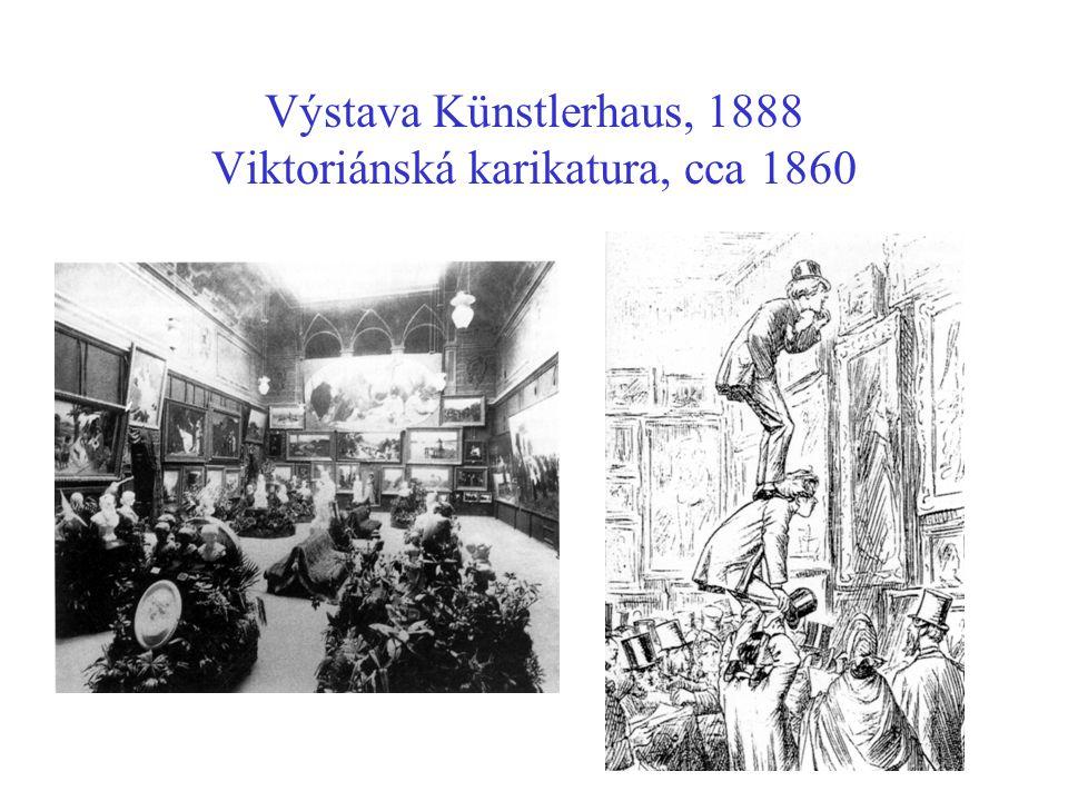 Výstava Künstlerhaus, 1888 Viktoriánská karikatura, cca 1860