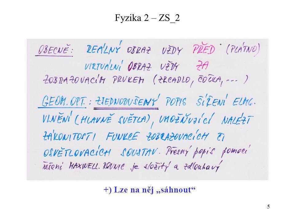 16 Fyzika 2 – ZS_2 ZOBRAZOVÁNÍ