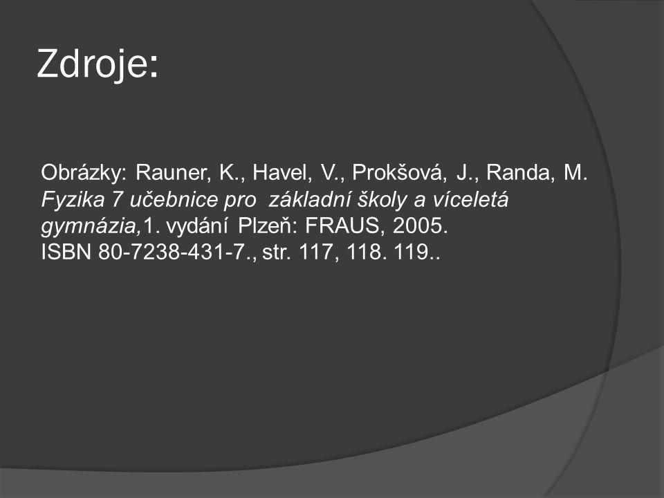 Zdroje: Obrázky: Rauner, K., Havel, V., Prokšová, J., Randa, M.