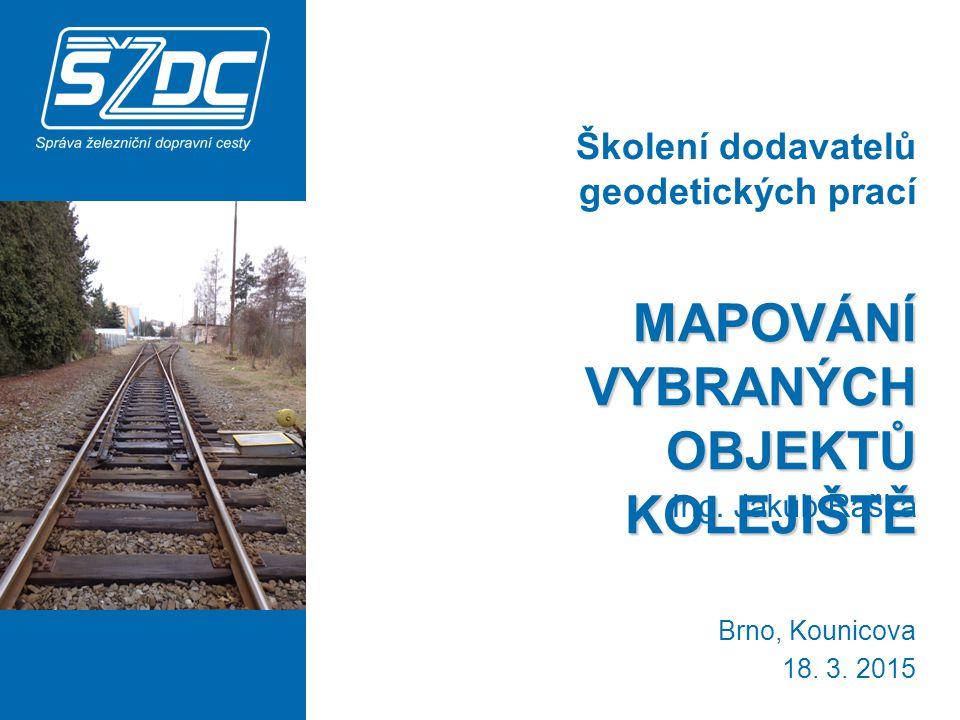http://www.szdc.cz / O nás / Organizační jednotky SŽDC / Správa železniční geodézie Olomouc / Dokumenty / Opatření ředitele SŽG Olomouc důležité pro činnost externích geodetů OŘ36 Opatření k zaměřování objektů železniční dopravní cesty FOTOKATALOG OŘ39 Technické zadávací podmínky pro geodetické a projekční práce 2 PŘEDPISY http://www.szdc.cz/o-nas/organizacni-jednotky-szdc/szg- olomouc/ke-stazeni/opatreni.html