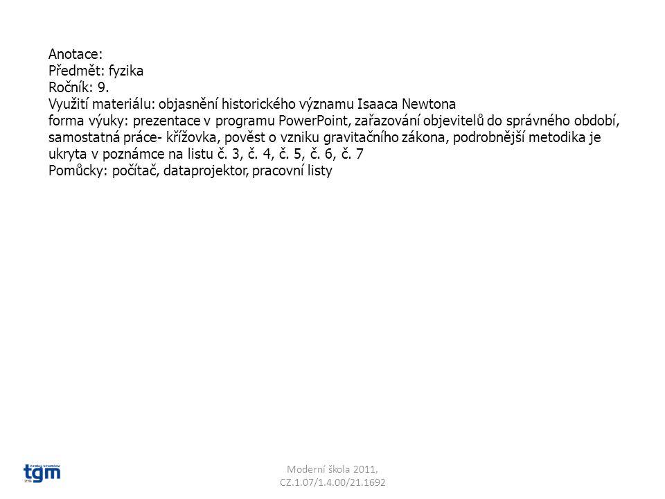Anotace: Předmět: fyzika Ročník: 9.