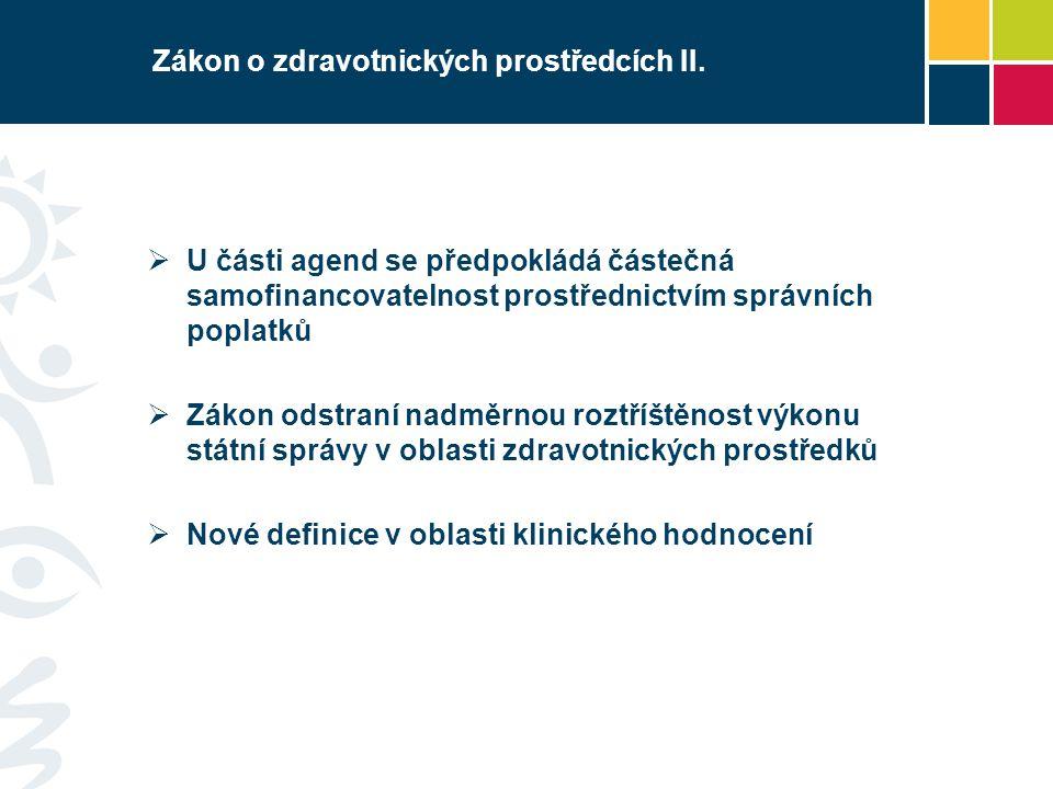 Zákon o zdravotnických prostředcích II.