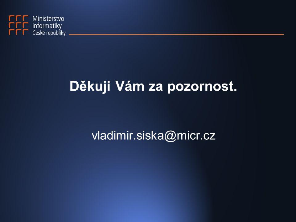 Děkuji Vám za pozornost. vladimir.siska@micr.cz