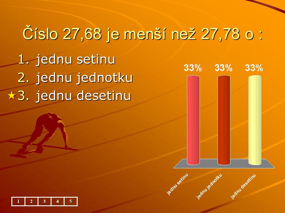 Porovnávání desetinných čísel – matematika 5.ročník ZŠ Použitý software: držitel licence - ZŠ J.
