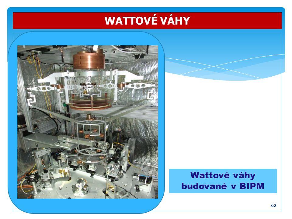 62 WATTOVÉ VÁHY Wattové váhy budované v BIPM