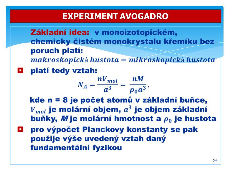  64 EXPERIMENT AVOGADRO