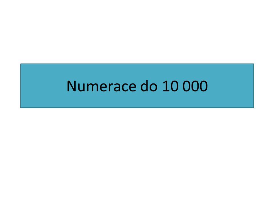 Numerace do 10 000